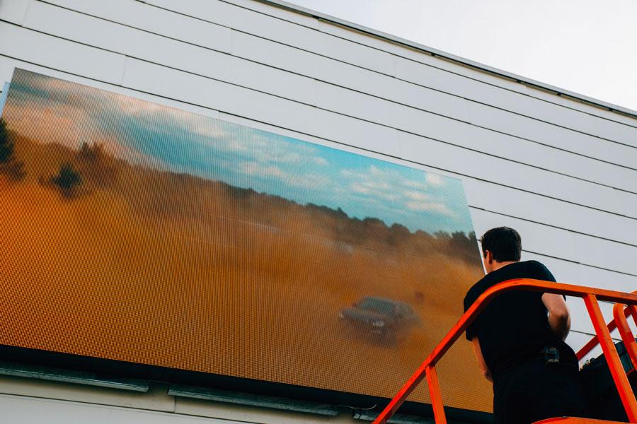 affichage led façade